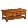 Lincoln Rustic 1 Drawer Coffee Table