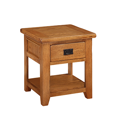 Lincoln Natural 1 Drawer Lamp End