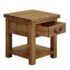1 Drawer Lamp End Table-stand-storage-cabinet-pine-wood-Living-furniture-steptoes-paphos-cyprus
