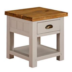 Norfolk Grey Lamp End Table