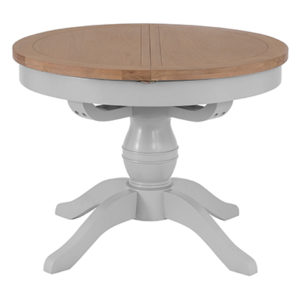 Suffolk Grey 1.1M Round Butterfly Extending Table