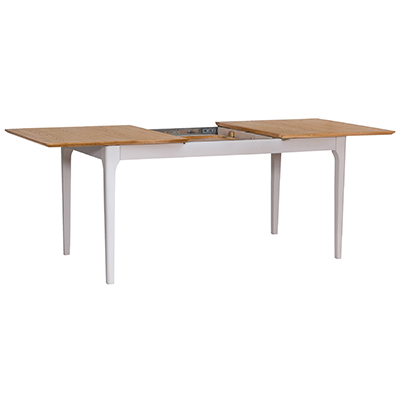 Bergen Beige 1.6M Butterfly Extending Dining Table