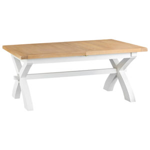 Suffolk White 1.8M Cross Extending Table