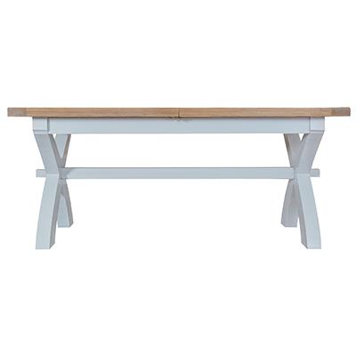 Suffolk Grey 1.8M Cross Extending Table