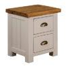 Norfolk Grey 2 Drawer Bedside Cabinet