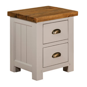 Norfolk Grey 2 Drawer Bedside Cabinet