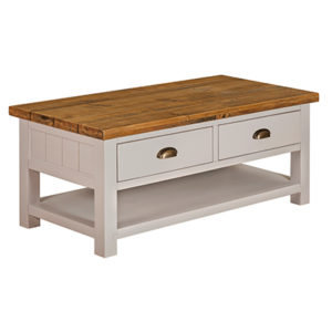 Norfolk Grey 2 Drawer Coffee Table
