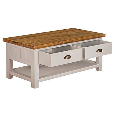 Norfolk Grey 2 Drawer Coffee Table
