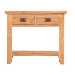 Lincoln Natural 2 Drawer Console Table