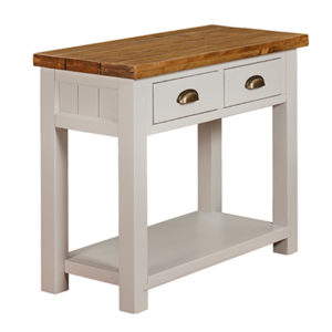 Norfolk Grey 2 Drawer Console Table