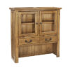 2 Glass Door Small Hutch-storage-cupboard-pine-wood-dining-furniture-steptoes-paphos-cyprus (2)