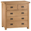 2 over 3 chest-drawers-storage-bronze handles-oak-Bedroom-wooden-wood-furniture-Steptoes-paphos-cyprus