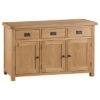 3 Door Sideboard-drawer-cupboard-storage-bronze handles-oak-Dining-wooden-wood-furniture-Steptoes-paphos-cyprus