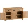3 Door Sideboard-drawer-cupboard-storage-bronze handles-oak-Dining-wooden-wood-furniture-Steptoes-paphos-cyprus (2)