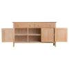 3 Door Sideboard-storage-drawers-chest-shelves-natural-oak-Dining-wood-wooden-furniture-Steptoes-Paphos-Cyprus (2)
