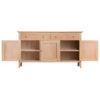 3 Door Sideboard-storage-drawers-chest-shelves-natural-oak-Dining-wood-wooden-furniture-Steptoes-Paphos-Cyprus (5)