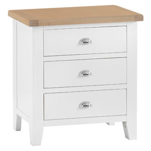 Suffolk White 3 Drawer Chest
