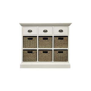 Walton 3 Drawer 6 Basket Unit