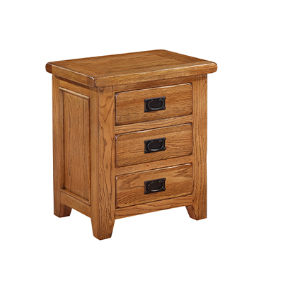 Lincoln Rustic Bedside Cabinet