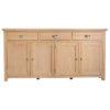 Windsor Limed 4 Door 3 Drawer Sideboard