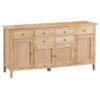 4 Door Sideboard-storage-drawers-chest-shelves-natural-oak-Dining-wood-wooden-furniture-Steptoes-Paphos-Cyprus (2)