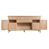 4 Door Sideboard-storage-drawers-chest-shelves-natural-oak-Dining-wood-wooden-furniture-Steptoes-Paphos-Cyprus (3)