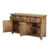 4 Drawer 3 Door Sideboard – Cotswold – Rustic Pine – Dining – Storage – Unit – Drawers – Door – Interior – Steptoes – Paphos – Cyprus (3)