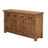 4 Drawer 3 Door Sideboard – Cotswold – Rustic Pine – Dining – Storage – Unit – Drawers – Door – Interior – Steptoes – Paphos – Cyprus (4)