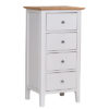 Bergen Beige 4 Drawer Narrow Chest