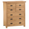 4 over 3 Chest-drawers-storage-bronze handles-oak-Bedroom-wooden-wood-furniture-Steptoes-paphos-cyprus