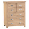 Windsor Limed 4 Over 3 Chest - - Wood - Oak - Pine - Mango Wood - Painted - Natural Wood - Solid Wood - Lounge - Bedroom - Dining - Occasional - Furniture - Home - Living - Comfort - Interior Design - Modern