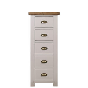 Norfolk Grey 5 Drawer Narrow Chest