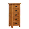 Lincoln Rustic 5 Drawer Narrow Chest