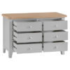 6 Drawer Chest-Cabinet-wide-storage-grey-painted-lime washed top-wood-wooden-bedroom-furniture-Steptoes-Paphos-Cyprus (2)