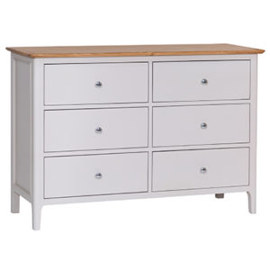 Bergen Beige 6 Drawer Chest
