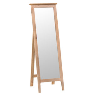 Bergen Oak Cheval Mirror