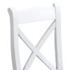 Suffolk White Cross Back Chair Wooden Seat