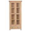 Windsor Limed Display Cabinet With Glass Doors