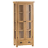 Display Cabinet-glass-doors-unit-cupboard-shelf-drawer-oak-bronze handle-occasional-wooden-wood-furniture-Steptoes-paphos-cyprus