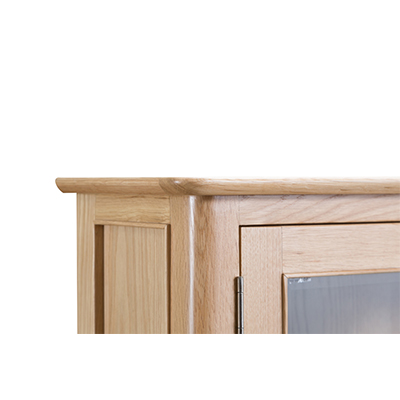 Bergen Oak Display Cabinet