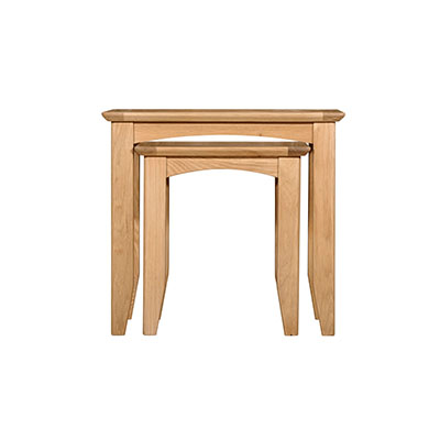 Eva Natural Nest of 2 Tables- Wood - Oak - Pine - Mango Wood - Painted - Natural Wood - Solid Wood - Lounge - Bedroom - Dining - Occasional - Furniture - Home - Living - Comfort - Interior Design - Modern