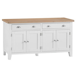 Suffolk White 4 Door Sideboard