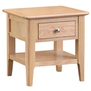 Bergen Oak Lamp Table