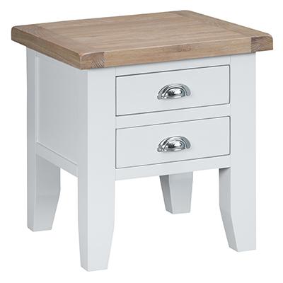 Suffolk White Lamp Table