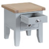 Lamp Table-side-end-stand-drawers-grey-painted-lime washed oak top-wood-wooden-Living-furniture-Steptoes-Paphos-Cyprus