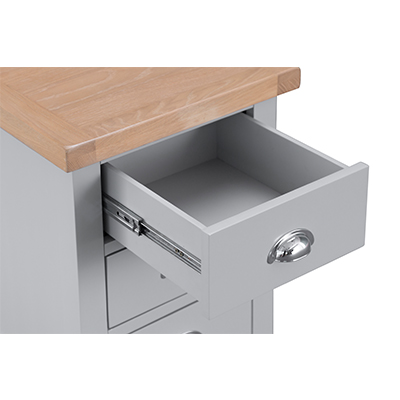 Suffolk Grey Large Bedside Cabinet