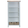 Large Bookcase-stand-book-storage-cabinet-grey-painted-lime washed oak top-wood-wooden-occasional-furniture-Steptoes-Paphos-Cyprus (2)