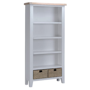 Suffolk Grey Large Bookcase