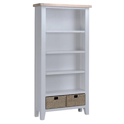 Suffolk Grey Large Bookcase
