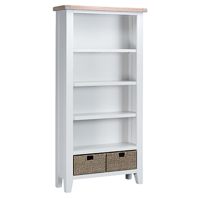 Suffolk White Large Bookcase